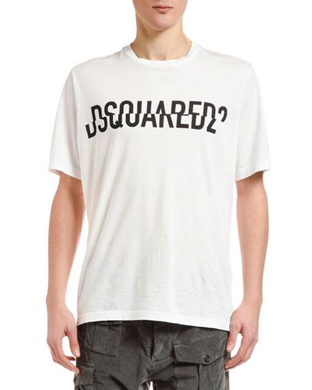 Men's Spliced Logo T-Shirt