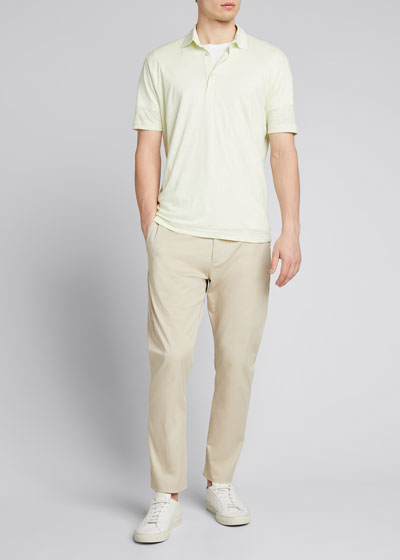 Men's Linen Jersey Dublon Polo Shirt
