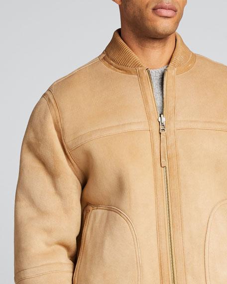 Men's Reversible Shearling Bomber Jacket