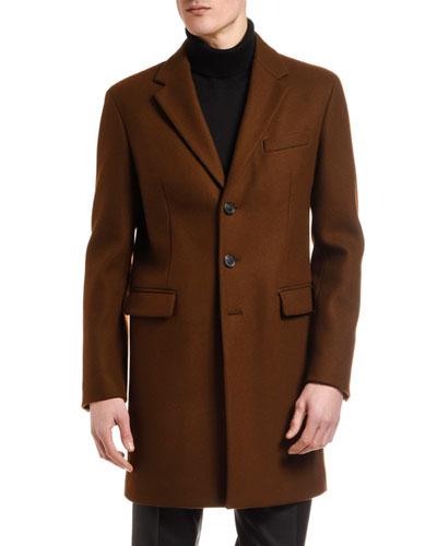 Men's Wool Three-Button Top Coat