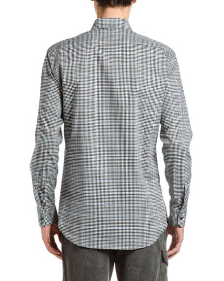 Men's Plaid Check Sport Shirt
