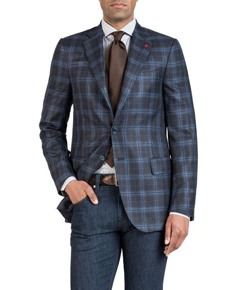 Men's Two-Tone Plaid Jacket