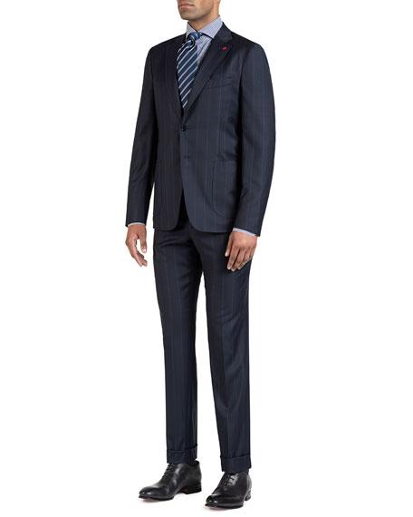 Men's Wide Stripe Two-Piece Suit