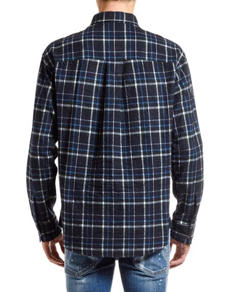 Men's Plaid Flannel Sport Shirt