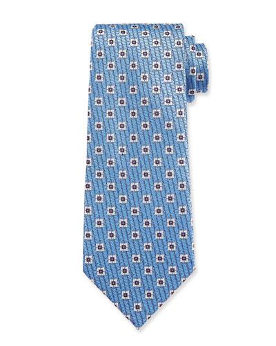 Men's Spaced Squares Silk Tie
