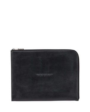 Off-White Men's Embossed Leather Document Case