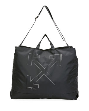 Off-White Unfinished-Logo Tote Bag