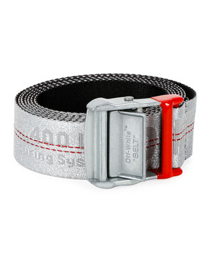 Off-White Men's Industrial Web Logo Belt