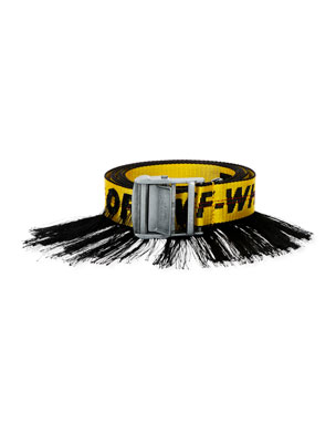 Off-White Men's Artisan Industrial Belt w/ Fringe Trim