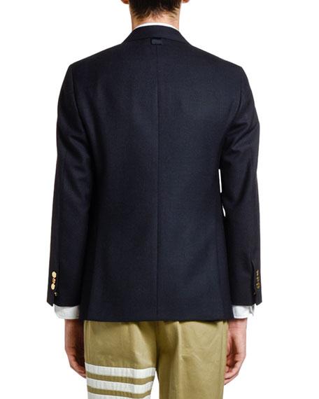 Men's Wool Three-Button Jacket