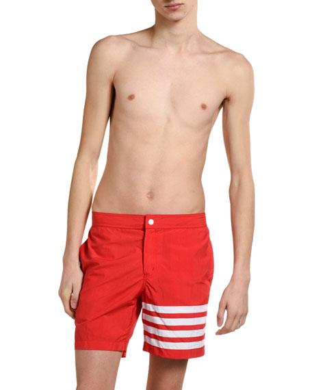 Men's Four-Stripe Swim Trunks