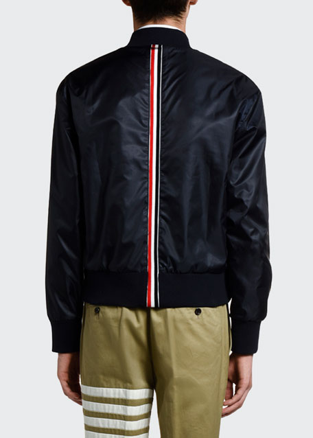 Men's Nylon Satin Bomber Jacket