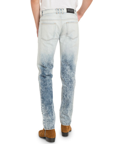 Men's Two-Tone Bleached Jeans