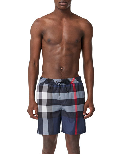 Men's Guildes Signature Check Swim Trunks