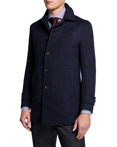 Men's Solid Cashmere Coat