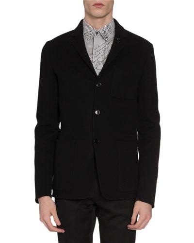 Men's Button-Front Cashmere Jacket