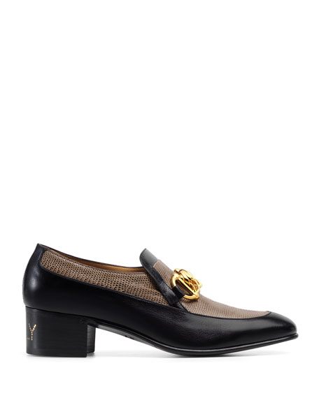 Men's Ebal Horsebit Leather & Lizard Loafers