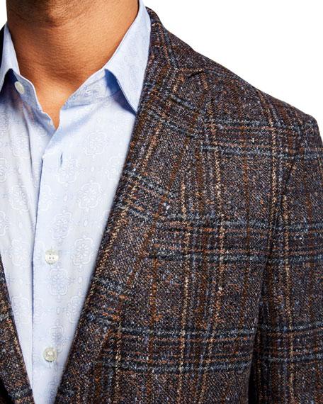 Men's Glen Check Dobby Two-Button Jacket