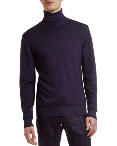 Men's Garment-Dyed Wool Turtleneck Sweater