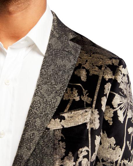 Men's Floral Velvet Patchwork Sport Jacket