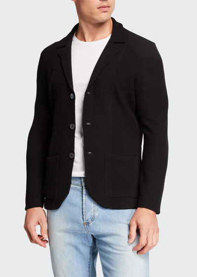 Men's Merino Wool Cardigan Blazer