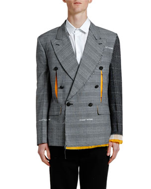 Off-White Men's Reconstructed Double-Breasted Jacket