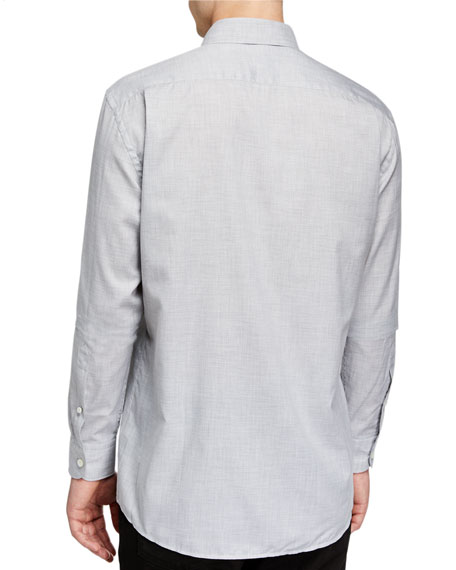 Men's Washed Solid Cotton Sport Shirt