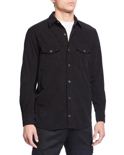 Men's Solid Corduroy Sport Shirt