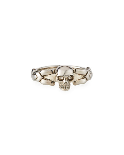 Men's Textured Skull Ring  Size 9-10