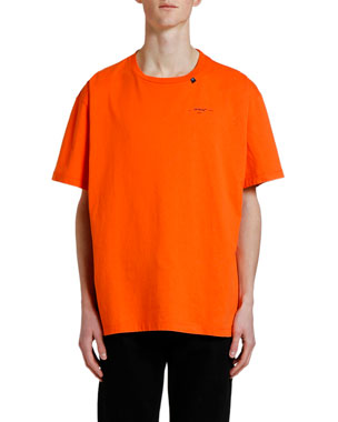 Off-White Men's Abstract Arrows Oversized Crewneck T-Shirt