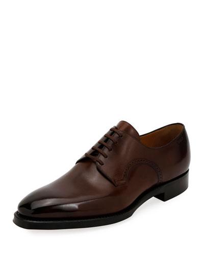Men's Scamardo Leather Derby Dress Shoes