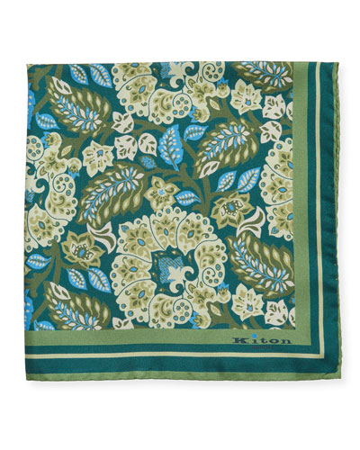 Men's Classic Floral Silk Pocket Square