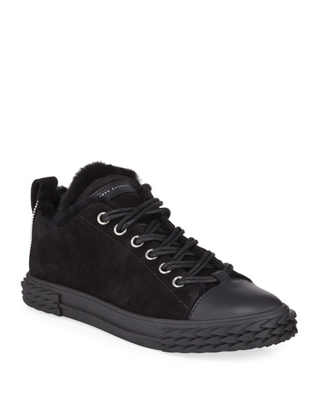 Men's Blabber Suede Sneakers with Shearling Lining