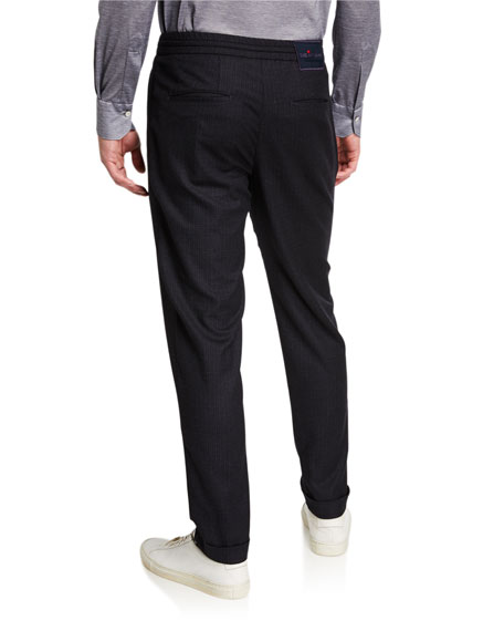 Men's Tonal Check Jogger Pants