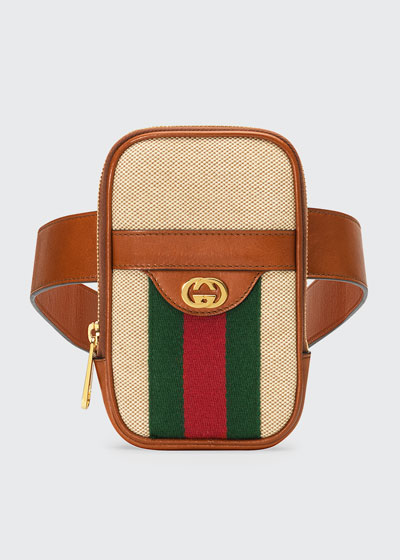 Men's Vintage Canvas Web Belt Bag