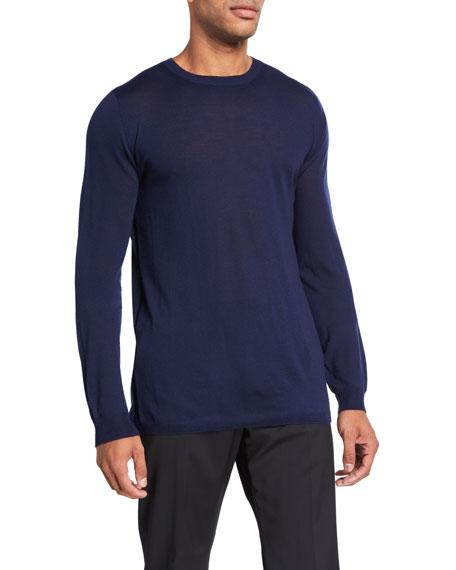 Men's Solid Merino Wool Crewneck Sweater