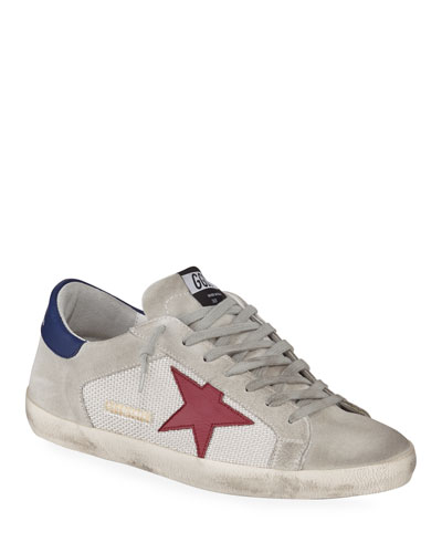 Men's Superstar Suede & Mesh Sneakers