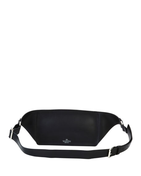 Men's VLTN Leather Belt Bag