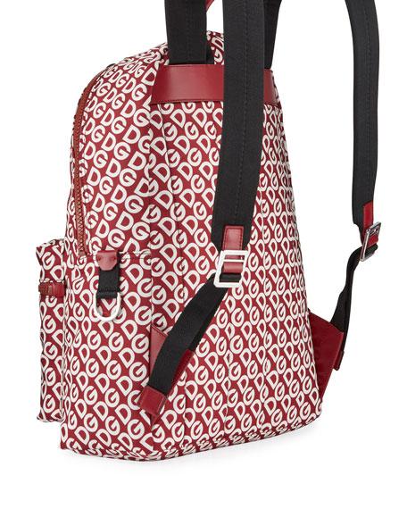 Men's Logo Mania Nylon Backpack