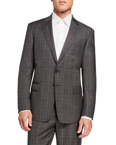 Men's Plaid Two-Piece Suit