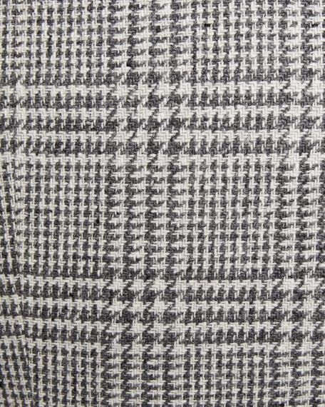 Men's Notch-Lapel Plaid Two-Button Jacket