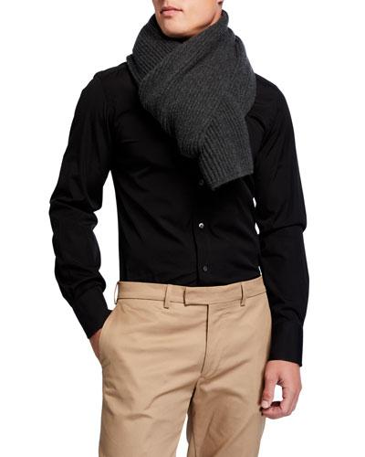 Men's Alberto Cashmere Knit Scarf