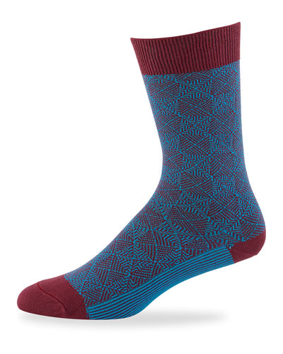 Men's Hutton Jacquard Knit Socks