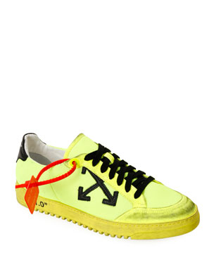 Off-White Men's 2.0 Arrow Low-Top Sneakers with Dirty Treatment