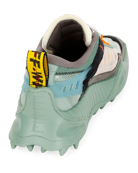 Men's Odsy-1000 Arrow Chunky Sneakers, Baby Blue/Black