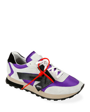 Off-White Men's HG Runner Arrow Sneakers, Violet/Black