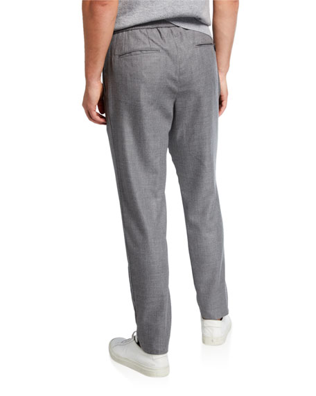 Men's Pleated Cashmere-Wool Trousers