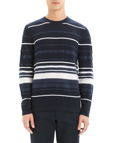 Men's Hills Stripe Cashmere Sweater