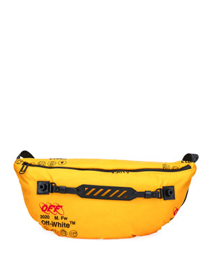Off-White Men's Industrial Medium Belt Bag/Fanny Pack
