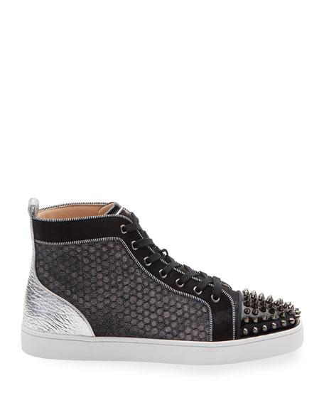 Men's Lou Spikes Orlato Mixed-Media Sneakers